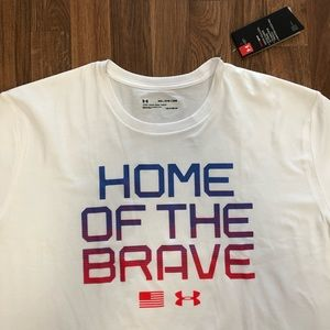 🇺🇸 Under Armour Home of the Brave USA Shirt 3XL